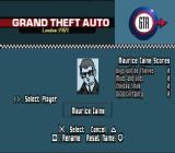 Grand Theft Auto: London (Special Edition) PlayStation Selecting your crim.