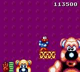 James Pond 2: Codename: RoboCod Game Gear Boss fight against a giant teddy