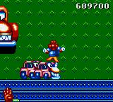 James Pond 2: Codename: RoboCod Game Gear Boss fight against a giant car that spits out smaller cars