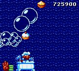 James Pond 2: Codename: RoboCod Game Gear Crossing a water level in a bathtub