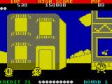 Pac-Land ZX Spectrum The first round takes place in a town.