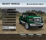 Ford Racing Off Road PlayStation 2 Car selection.