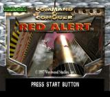 Command & Conquer: Red Alert PlayStation Title screen.