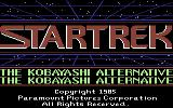 Star Trek: The Kobayashi Alternative Commodore 64 Title screen