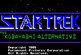 Star Trek: The Kobayashi Alternative Apple II Title screen