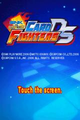 SNK VS. CAPCOM Card Fighters DS Nintendo DS Title screen.
