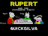 Rupert and the Toymaker's Party ZX Spectrum Loading screen