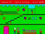 Rupert and the Toymaker's Party ZX Spectrum The first screen with Rupert and enemies