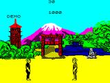The Way of the Exploding Fist ZX Spectrum The demo is about to begin.