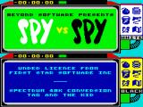 Spy vs Spy ZX Spectrum Title screen