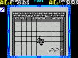 Shackled ZX Spectrum This is combat. Although the enemy is ahead and to the left I can attack him by facing ahead and pressing FIRE