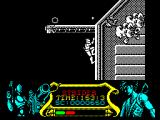 Strider ZX Spectrum ... luckily he climbs automatically while the swirly friend destroys the gun turrets