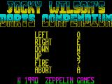 Jocky Wilson's Compendium of Darts ZX Spectrum Action keys can be redefined to suit the player, this is an option from the main menu