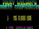 Jocky Wilson's Compendium of Darts ZX Spectrum When starting a game the player(s) must first decide how many are taking part