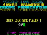 Jocky Wilson's Compendium of Darts ZX Spectrum .. then names are entered