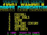 Jocky Wilson's Compendium of Darts ZX Spectrum These are the games on offer.