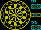 Jocky Wilson's Compendium of Darts ZX Spectrum Nothing scored. The player can move the dart to be thrown around but it wobbles and drifts from position, so the player must time when to fire carefully
