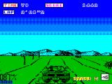 OutRun ZX Spectrum Game start - Burning some rubber!