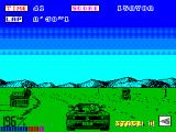 OutRun ZX Spectrum First sign of traffic and buildings