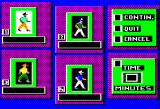 Soko-Ban Apple II The game menu