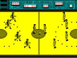 Golden Basket ZX Spectrum At the start of the game the players come running onto the pitch from both sides of the screen