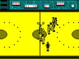 Golden Basket ZX Spectrum The player with the ball is clearly marked