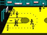 Golden Basket ZX Spectrum The white team have scored with a reverse basket. That really is being just a bit too flash.