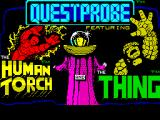 Questprobe: Featuring Human Torch and the Thing ZX Spectrum Title screen