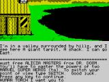 Questprobe: Featuring Human Torch and the Thing ZX Spectrum Starting point