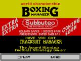 World Championship Boxing Manager ZX Spectrum This screen displays when the game loads