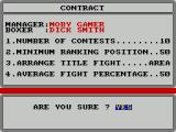 World Championship Boxing Manager ZX Spectrum This is the second boxer and the settings here have been tweaked
