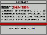 World Championship Boxing Manager ZX Spectrum This is the third boxer and he's at national Standard