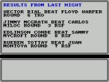 World Championship Boxing Manager ZX Spectrum ... and here are the results