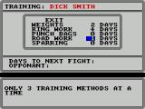 World Championship Boxing Manager ZX Spectrum Here training records for each boxer can be set up
