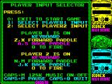 Toobin' ZX Spectrum The games credits are followed by the games main menu.