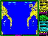 Toobin' ZX Spectrum Bif must get through the gates cleanly top score points, this was not clean so nothing scored