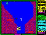 Toobin' ZX Spectrum Don't know what these red things are but they fire two bullets at a time