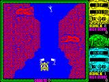 Toobin' ZX Spectrum When a gate is passed through cleanly and a bonus is awarded, the gate parts in the middle and disappears