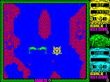Toobin' ZX Spectrum Again - hard to see but I think Bif is being shot at by giant robots here. Whatever they are they track Bif's progress