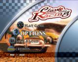 Classic British Motor Racing PlayStation 2 Menu screen.