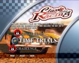Classic British Motor Racing PlayStation 2 Mode selection: you must to qualify with any car in the Time Trials to unlock Single Race and Challenge modes.