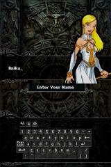 Mazes of Fate Nintendo DS Name edit screen.