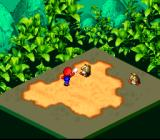 Super Mario RPG: Legend of the Seven Stars SNES Battle! Mario's attack in progress