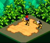 "Super Mario RPG: Legend of the Seven Stars SNES Boss battle. Mario is using his ""Jump"" technique"