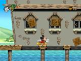 Mickey Mania PlayStation Falling boxes - A standard feature of platform games.