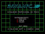 Professional Tennis Simulator ZX Spectrum Entrenamiento: Option 3 from the main menu is the training menu where the player can practice their strokes.