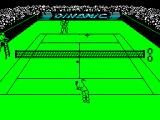 Professional Tennis Simulator ZX Spectrum Then the game begins. Moby has just served .....