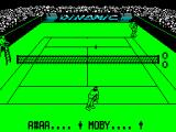 Professional Tennis Simulator ZX Spectrum After the break the game resumes with the dummy player ready to serve