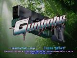 Gungage PlayStation Title Screen, with Wakle's gun featured prominently