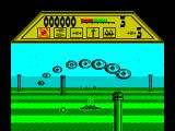 T-Bird ZX Spectrum level 1 is about dodging columns and shooting down waves of enemies.